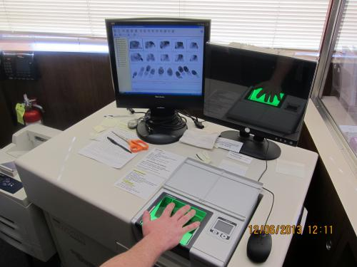 Fingerprint Scanning Machine and Computer